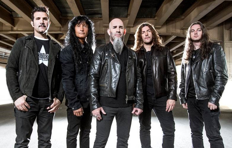 Anthrax with their current line-up
