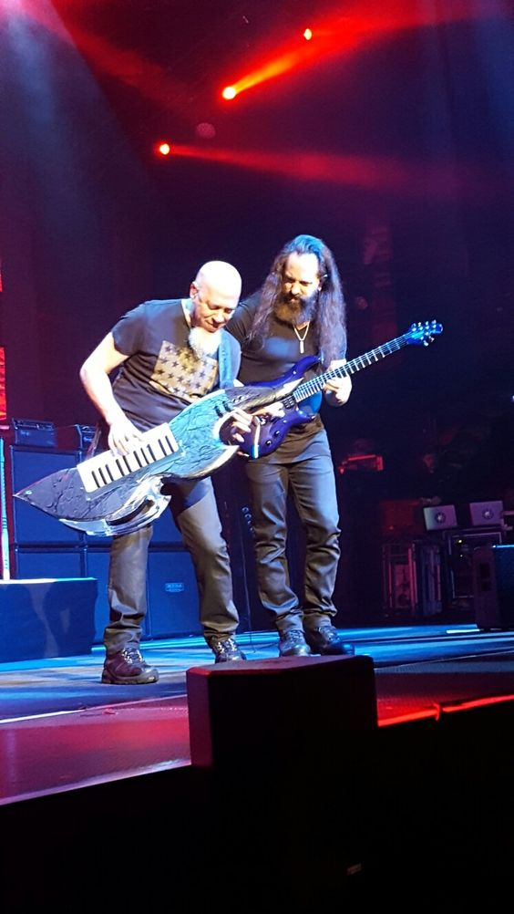 Jordan Rudess and John Petrucci on stage - 2013